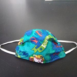 Child homemade fabric face mask